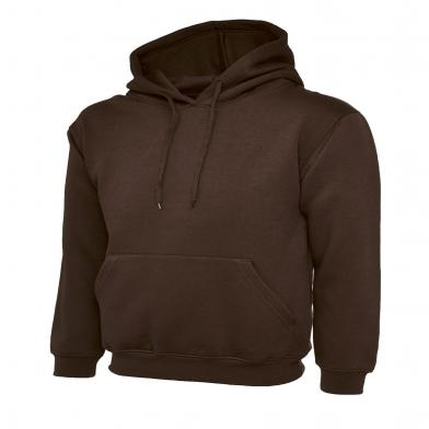 Classic Hooded Sweatshirt  In Brown