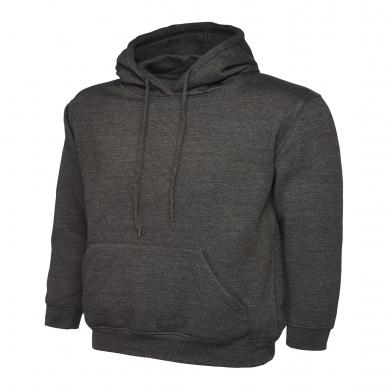 Classic Hooded Sweatshirt  In Charcoal