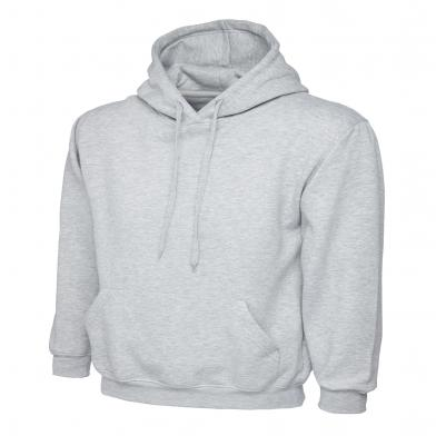 Classic Hooded Sweatshirt  In Heather Grey