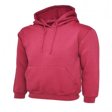 Classic Hooded Sweatshirt  In Hot Pink
