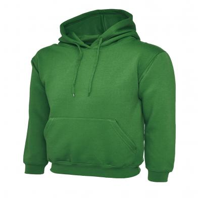 Classic Hooded Sweatshirt  In Kelly Green