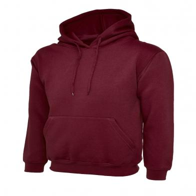 Classic Hooded Sweatshirt  In Maroon