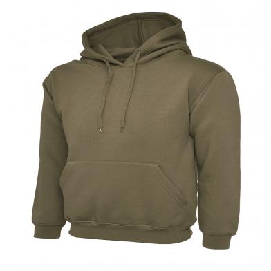 Classic Hooded Sweatshirt  In Military Green
