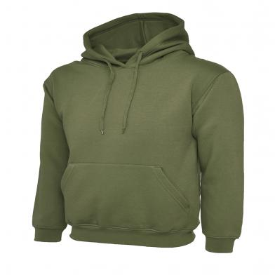Classic Hooded Sweatshirt  In Olive