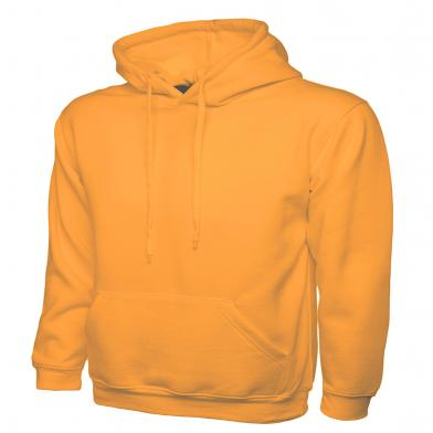 Classic Hooded Sweatshirt  In Orange