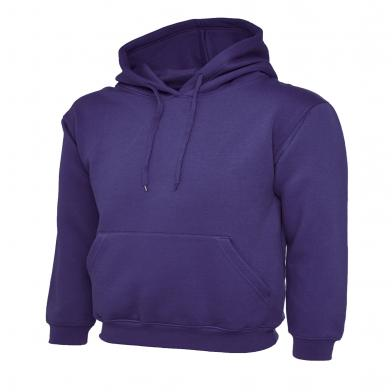 Classic Hooded Sweatshirt  In Purple