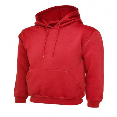 Classic Hooded Sweatshirt  In Red
