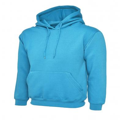 Classic Hooded Sweatshirt  In Sapphire Blue*