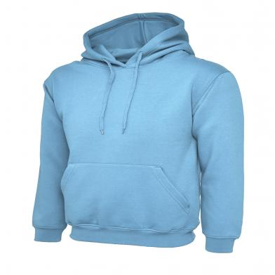 Classic Hooded Sweatshirt  In Sky Blue