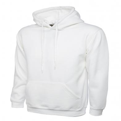 Classic Hooded Sweatshirt  In White