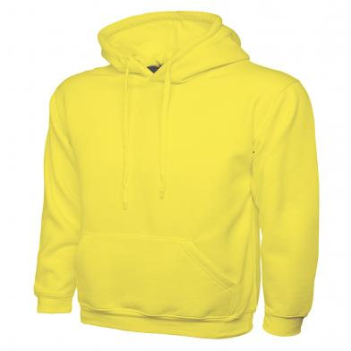Classic Hooded Sweatshirt  In Yellow