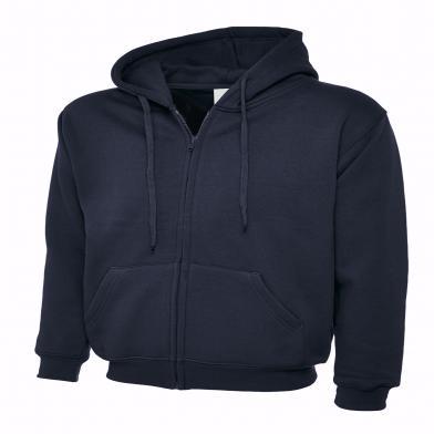 Classic Full Zip Hooded Sweatshirt  In Navy