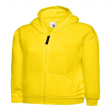 Childrens Classic Full Zip Hooded Sweatshirt  In Yellow