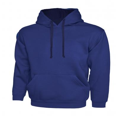 Contrast Hooded Sweatshirt  In Royal Blue / Navy