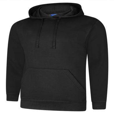 Deluxe Hooded Sweatshirt  In Black