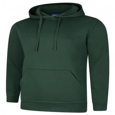 Deluxe Hooded Sweatshirt  In Bottle Green