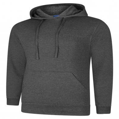 Deluxe Hooded Sweatshirt  In Charcoal