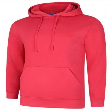 Deluxe Hooded Sweatshirt  In Cranberry