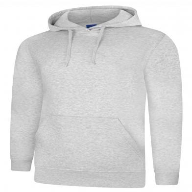 Deluxe Hooded Sweatshirt  In Heather Grey