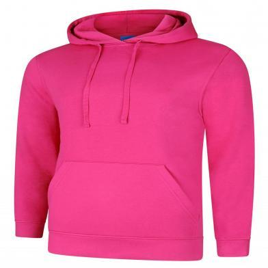 Deluxe Hooded Sweatshirt  In Hot Pink