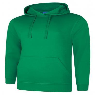 Deluxe Hooded Sweatshirt  In Kelly Green