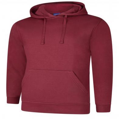 Deluxe Hooded Sweatshirt  In Maroon
