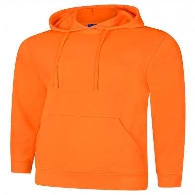 Deluxe Hooded Sweatshirt  In Orange
