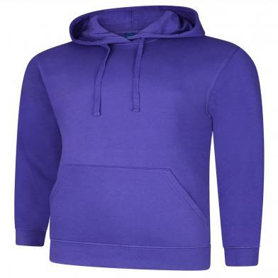 Deluxe Hooded Sweatshirt  In Purple