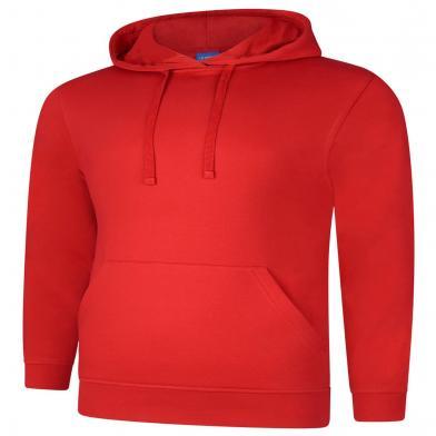 Deluxe Hooded Sweatshirt  In Red