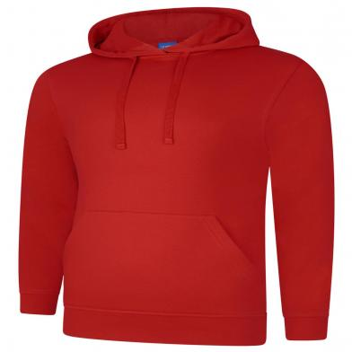 Deluxe Hooded Sweatshirt  In Sizzling Red