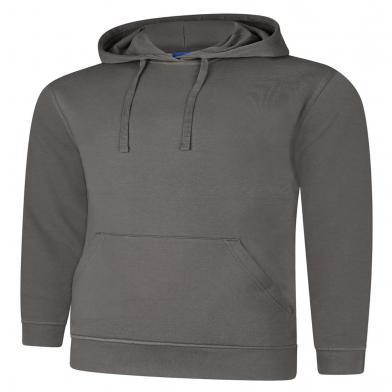Deluxe Hooded Sweatshirt  In Steel Grey