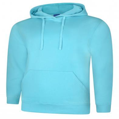 Deluxe Hooded Sweatshirt  In Turquoise