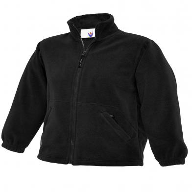 Childrens Full Zip Micro Fleece Jacket  In Black