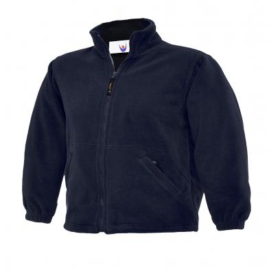 Childrens Full Zip Micro Fleece Jacket  In Navy