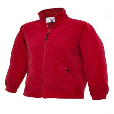 Childrens Full Zip Micro Fleece Jacket  In Red