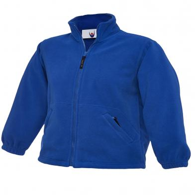 Childrens Full Zip Micro Fleece Jacket  In Royal Blue