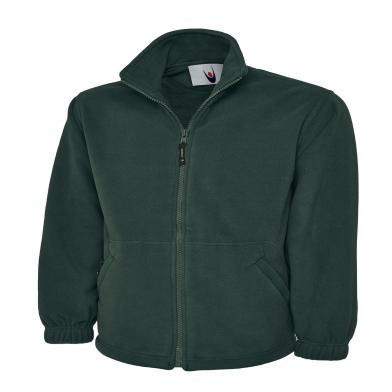 Classic Full Zip Micro Fleece Jacket  In Bottle Green