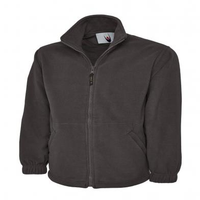 Classic Full Zip Micro Fleece Jacket  In Charcoal