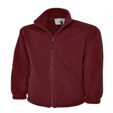 Classic Full Zip Micro Fleece Jacket  In Maroon