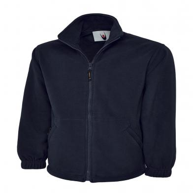 Classic Full Zip Micro Fleece Jacket  In Navy
