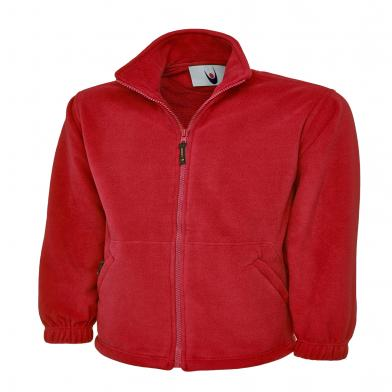 Classic Full Zip Micro Fleece Jacket  In Red