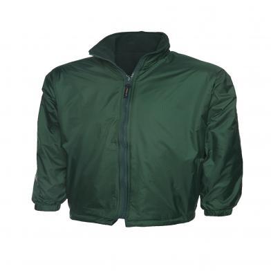 Childrens Reversible Fleece Jacket  In Bottle Green