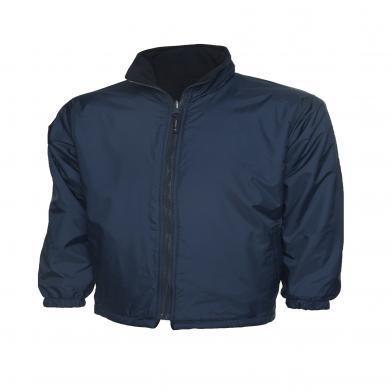 Childrens Reversible Fleece Jacket  In Navy