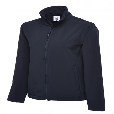Classic Full Zip Softshell Jacket  In Navy