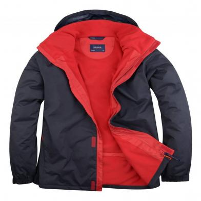 Deluxe Outdoor Jacket  In Navy / Red