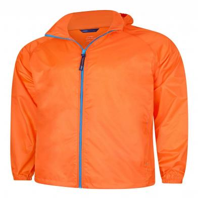 Active Jacket  In Fiery Orange / Surf Blue
