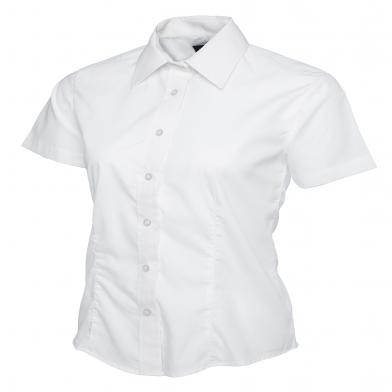 Uneek  - Ladies Poplin Short Sleeve Shirt