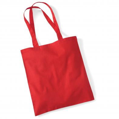 Bag For Life - Long Handles In Bright Red