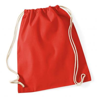 Cotton Gymsac In Bright Red