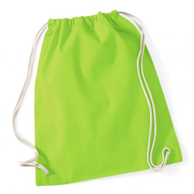 Cotton Gymsac In Lime Green*